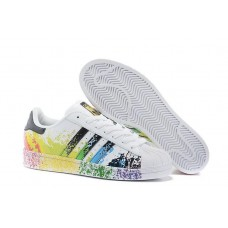 Adidas Originals Superstar Pride Pack Shoes White Black D70351