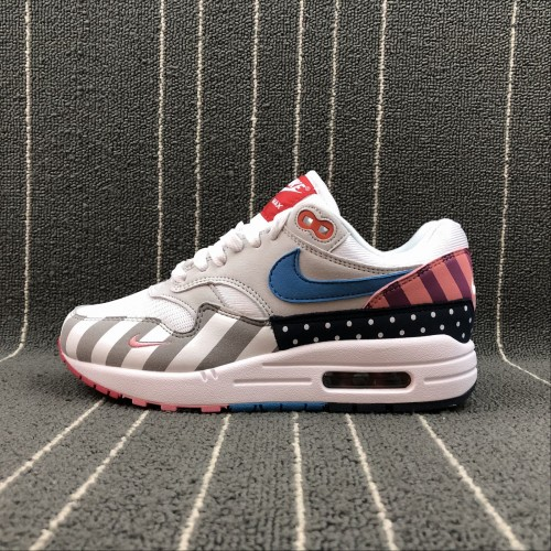 cheap for discount 68c20 c64ae Nike Air Max 1 PARRA White Gray Blue Pink AT3057-100 36-45