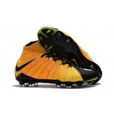 Nike Hypervenom Phantom III 3 DF FG Sock Soccer Cleats - Black/White/Laser Orange/Volt