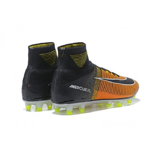 38d10e0d103729 ... Nike Mercurial Superfly V AG Pro Sock Soccer Cleats - Laser Orange Black  White ...