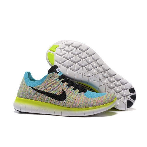 Nike Free 5.0 Womens Running Shoes Blue green Black Outlet