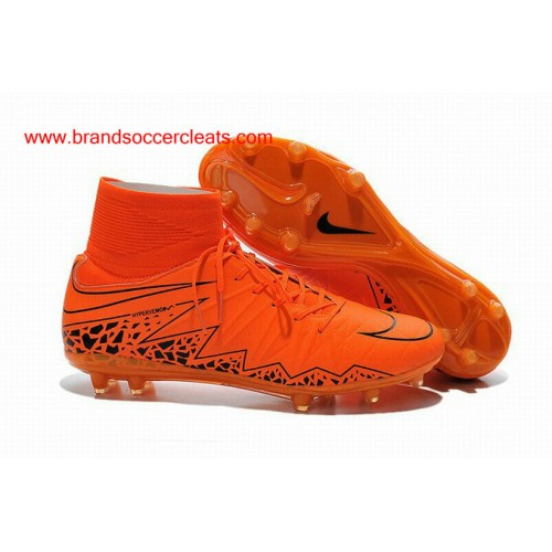 83123475c prodirect soccer nike hypervenom ii football boots cleats wolf grey total  orange black; fg nike hypervenom 2 phantom premium orange black football  boots ...