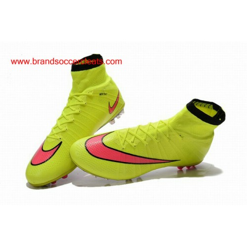 check out 74dd1 d543f ... AG Nike mercurial superfly grass green pink hyper football boots ...