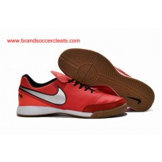 750f4060b0d5 IC Nike tiempo genio crimson silver black leather indoor court football  shoes