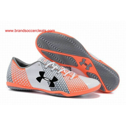 IC mens clutchfit orange black white grey ua force indoor Football Boots 6e76f5708341