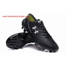 9047352a6a95 FG under armour speedform all black crm leather firm ground football boots  Arrival